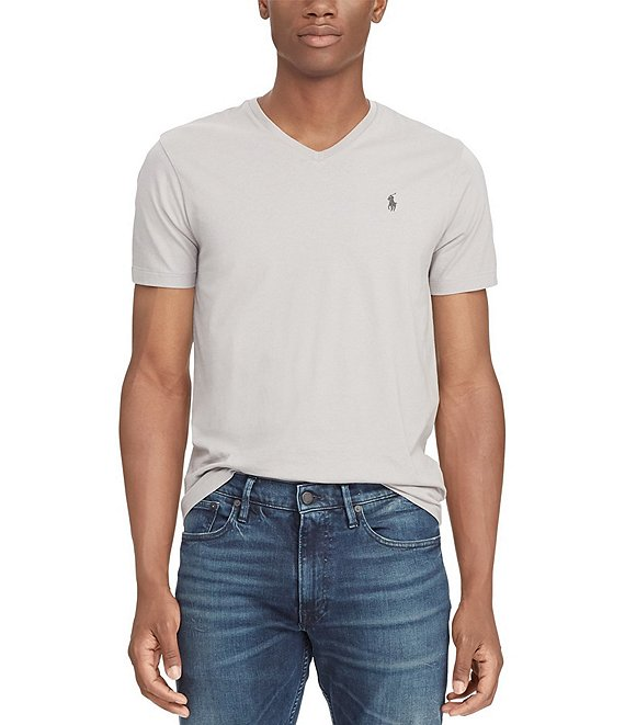 f595ceb4d99e Polo Ralph Lauren Classic-Fit Short-Sleeved Cotton Jersey V-Neck Tee ...