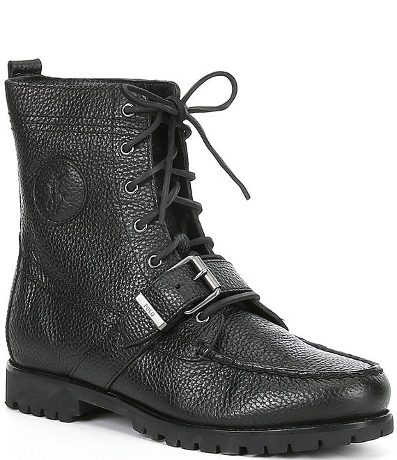 3d0e5f99494 Polo Ralph Lauren Men's Ranger Leather Buckle Boots