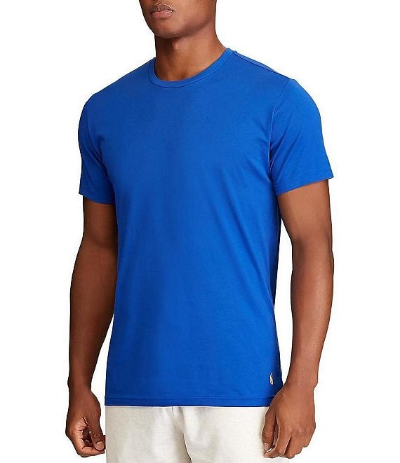 Color:Blue Saturn/Cabana Blue/Coast Guard/Yellow - Image 1 - Short-Sleeve Solid Crew Neck T-Shirt
