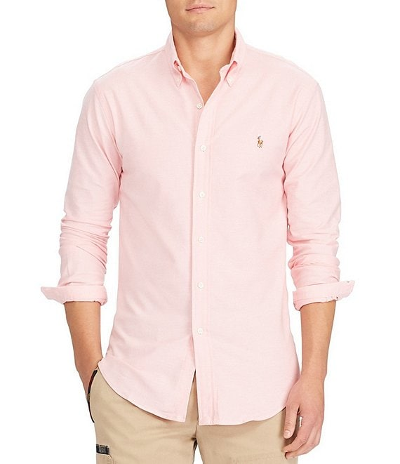 Polo Ralph Lauren Slim-Fit Solid Stretch Oxford Long-Sleeve Woven ...