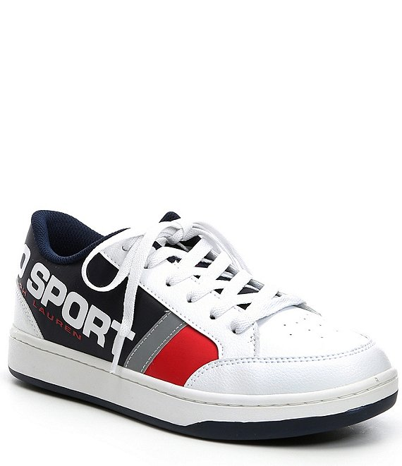 Color:White/Navy/Red - Image 1 - Sport Boys' Belden Sneakers (Youth)