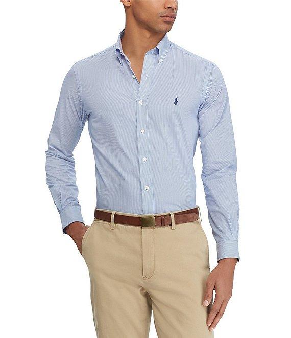 5a9a2dbb7 Polo Ralph Lauren Stripe Stretch Poplin Long-Sleeve Woven Shirt | Dillard's