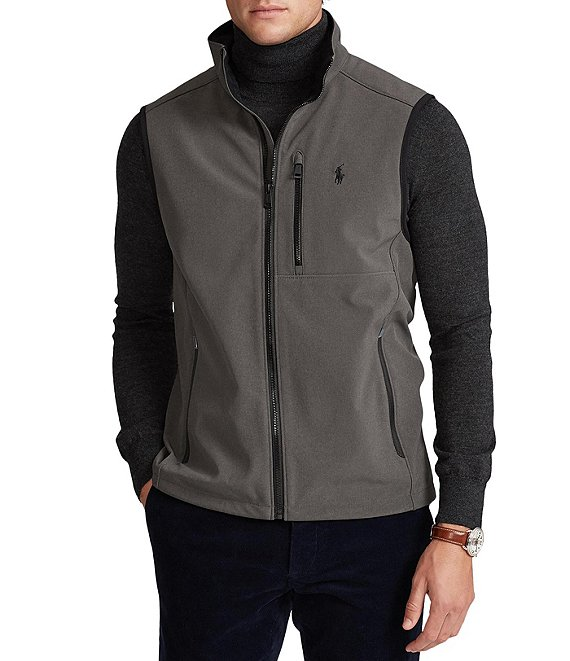 Color:Grey Heather - Image 1 - Water-Repellent Softshell Vest