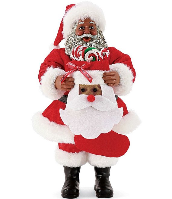 Possible Dreams 2020 African American Santa's Stocking Santa Figurine