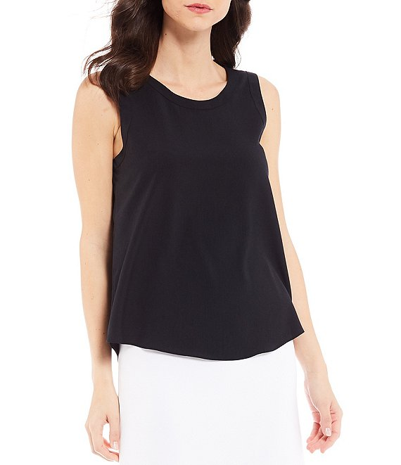 Color:Black - Image 1 - Amy Sleeveless Blouse