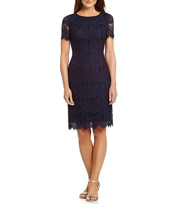 Dillards Wedding Gifts: Preston & York Felicia Short Sleeve Lace Sheath Dress