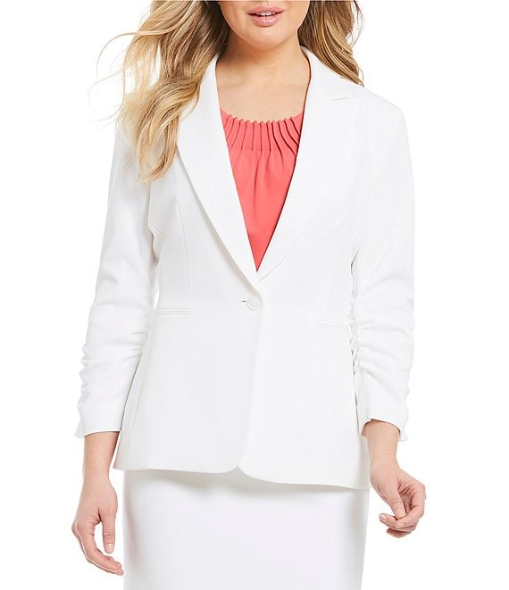 Color:True White - Image 1 - Gwen Crepe Suiting Jacket