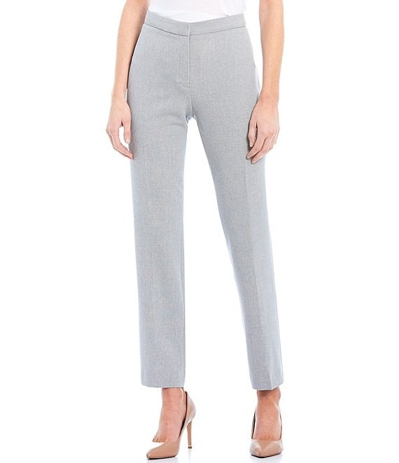 Color:Dove Grey - Image 1 - Lana Stretch Crepe Straight Pant