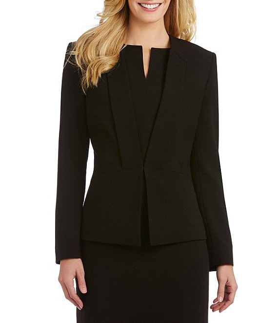 Color:Black - Image 1 - Liza Slim Stretch Jacket