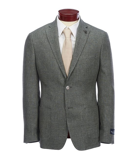 Color:Green - Image 1 - Slim Fit Solid Sportcoat