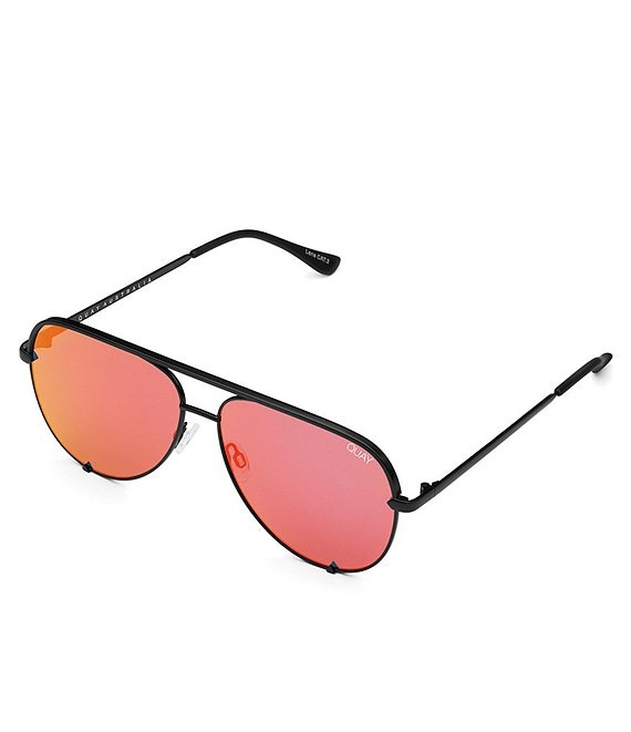 Color:Black Orange Red - Image 1 - High Key Aviator Sunglasses