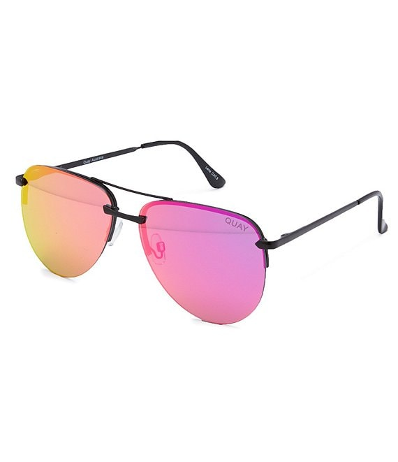 Quay Australia The Playa Round Aviator Sunglasses