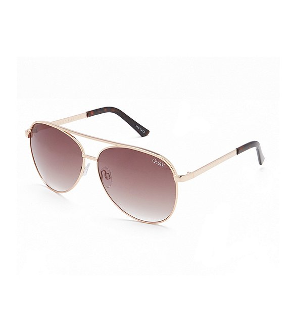 Color:Gold Purple - Image 1 - Vivienne Oversized Aviator Sunglasses