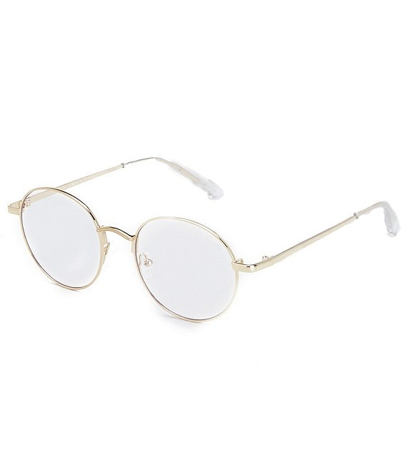 Color:Gold - Image 1 - I See You Round Blue Light Glasses