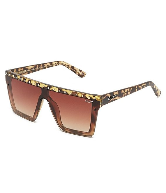 Color:Tortoise Gold Brown - Image 1 - #QUAYXJLO Hindsight Shield Sunglasses
