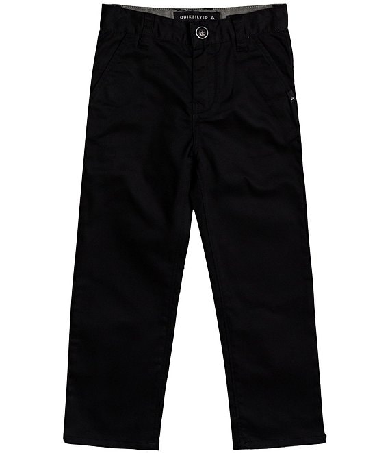 Color:Black - Image 1 - Little Boys 2T-7X Everyday Union Chino Pant