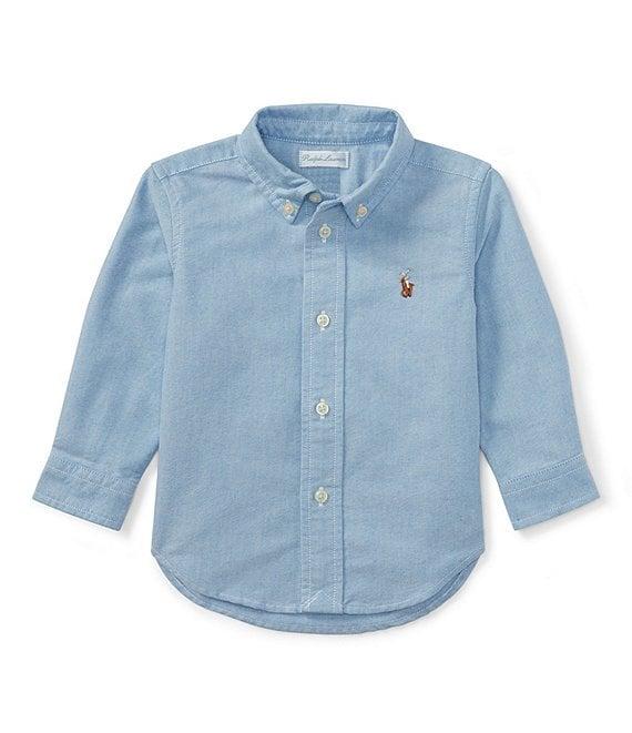 0a5b3228d Ralph Lauren Childrenswear Baby Boys 3-24 Months Long-Sleeve Oxford Shirt |  Dillard's