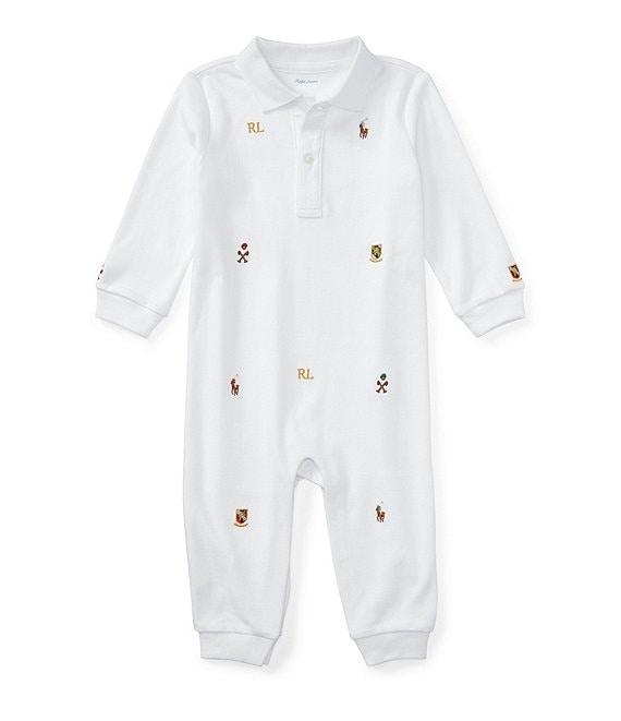 9654b48141c Ralph Lauren Childrenswear Baby Boys Newborn-12 Months Embroidered Schiffli  Coverall