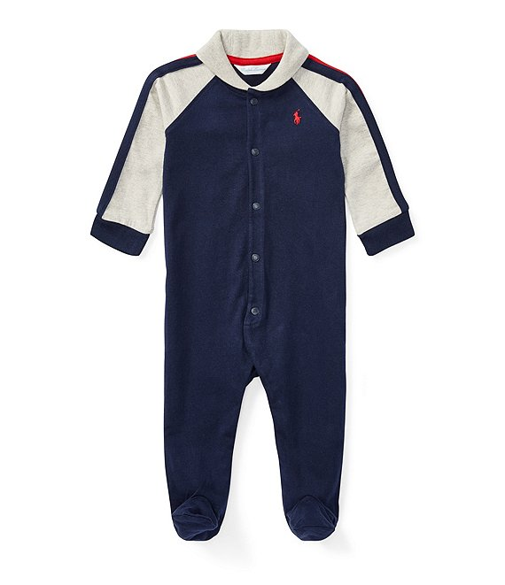 02165a0717 Ralph Lauren Childrenswear Baby Boys Newborn-9 Months Shawl Collar Footed  Coverall