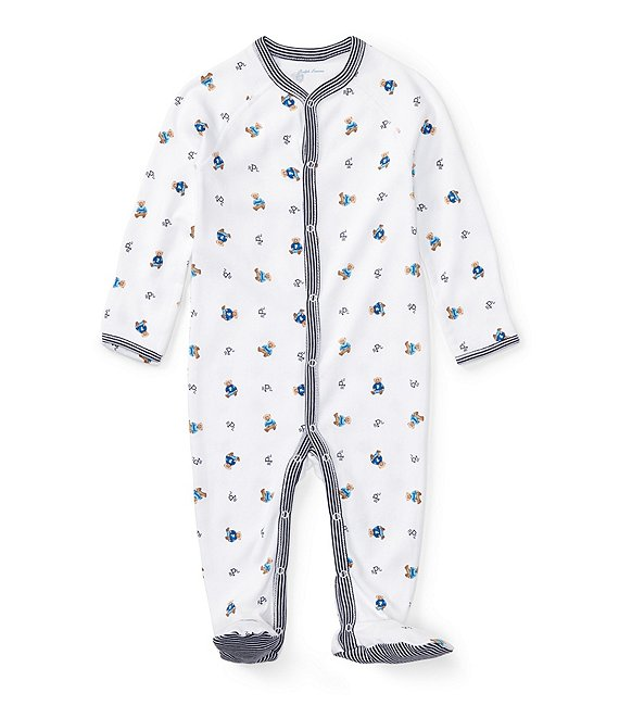 3bc0699a0 Ralph Lauren Childrenswear Baby Boys Newborn Bear Printed Footed Coverall