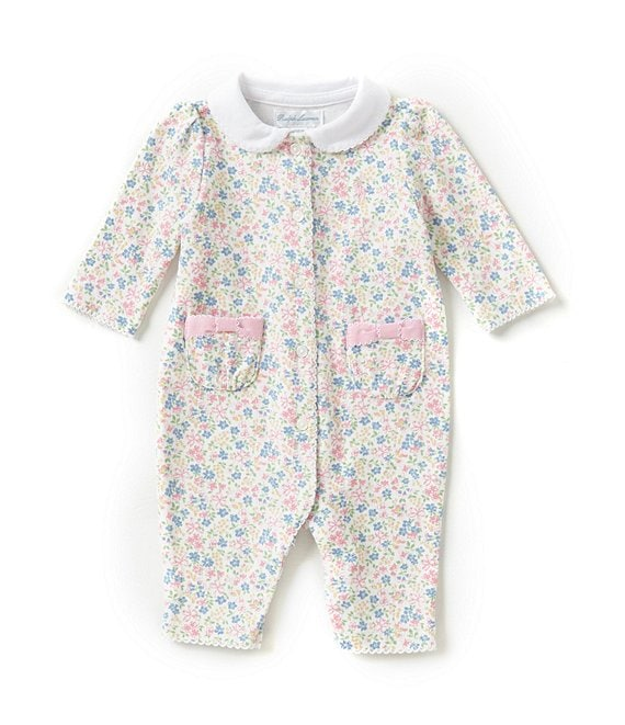Ralph Lauren Childrenswear Baby Girls Newborn-12 Months Floral Coveralls