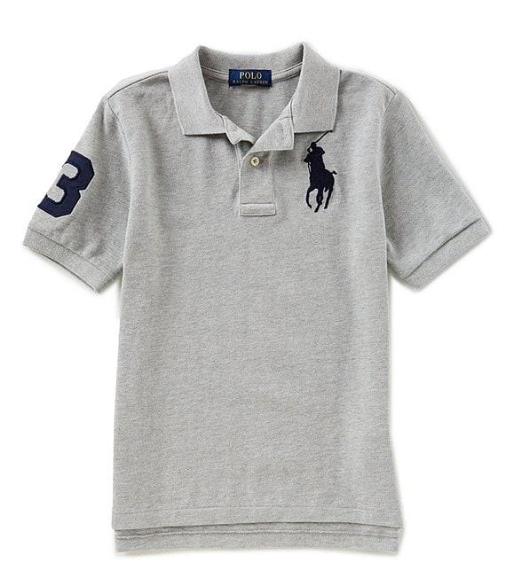 a51402dc Ralph Lauren Childrenswear Big Boys 8-20 Basic Mesh Big Pony Player Polo  Shirt