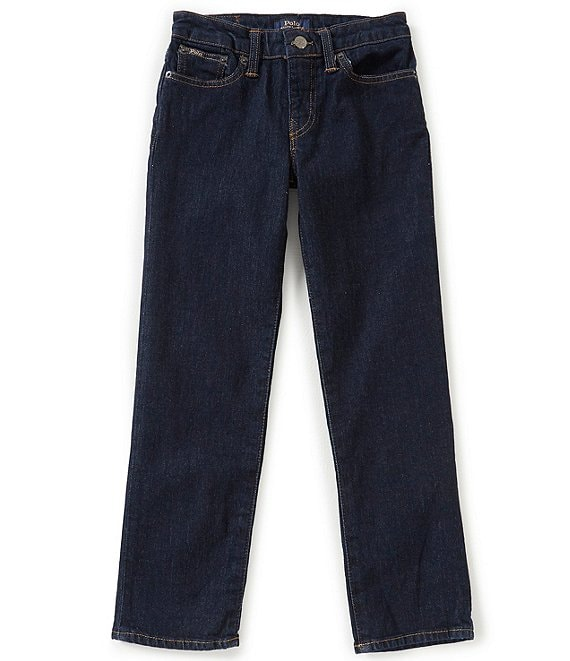 Ralph Lauren Childrenswear Big Boys 8-20 Dark Wash Slim Fit Denim Jeans