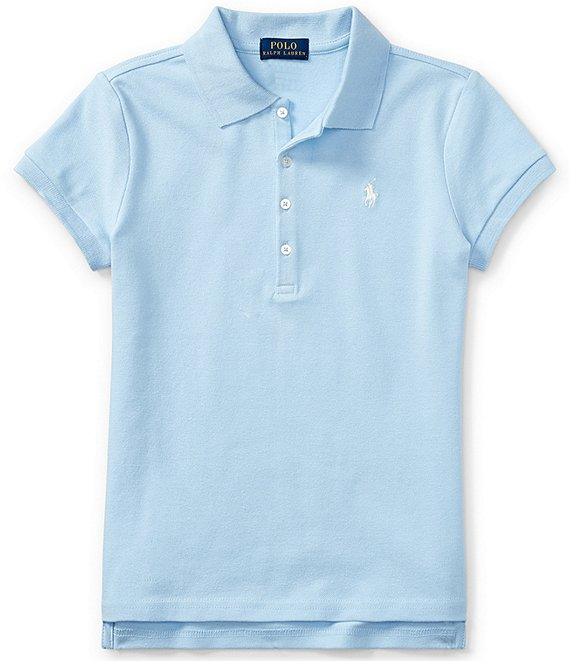 Ralph Lauren Childrenswear Big Girls 7-16 Short-Sleeve Mesh Polo Shirt