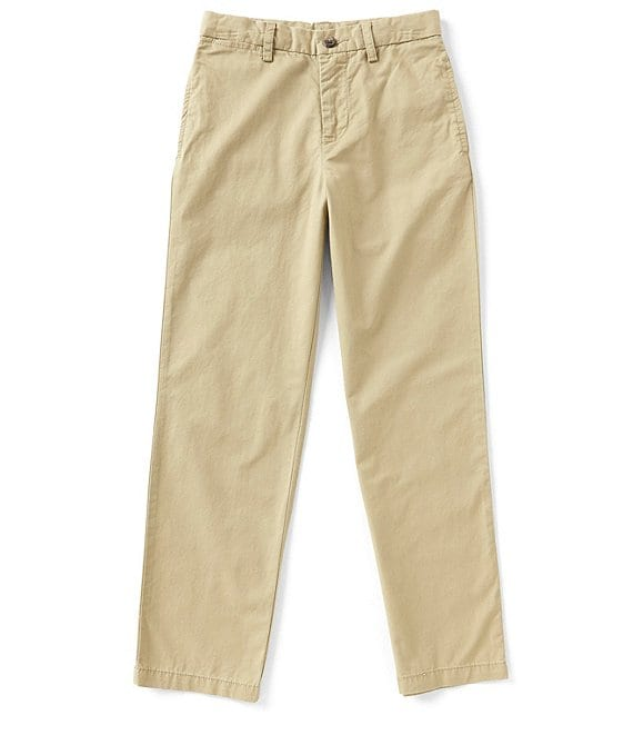 Color:Classic Khaki - Image 1 - Little Boys 2T-7 Suffield Flat-Front Chino Pants