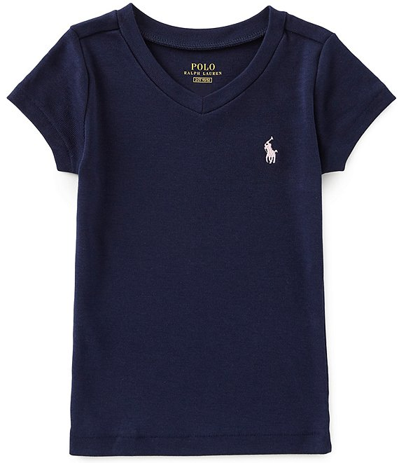 Color:French Navy - Image 1 - Childrenswear Little Girls 2T-6X Short-Sleeve Tee