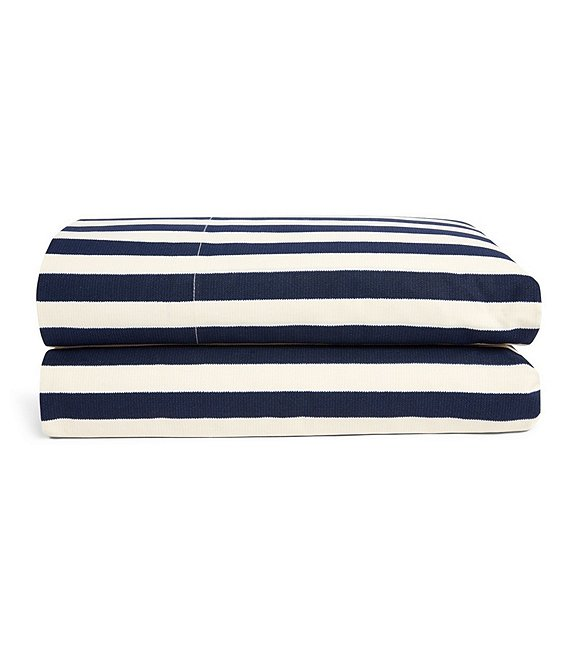 Color:navy - Image 1 - Durant Collection Cameron Stripe Percale Sheets
