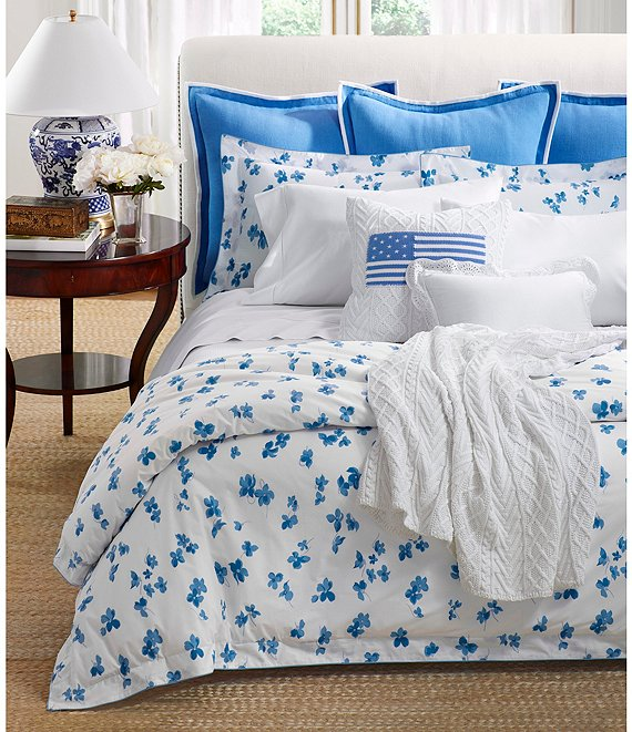 Ralph Lauren Georgica Collection Floral Maylen Percale Comforter Dillard S