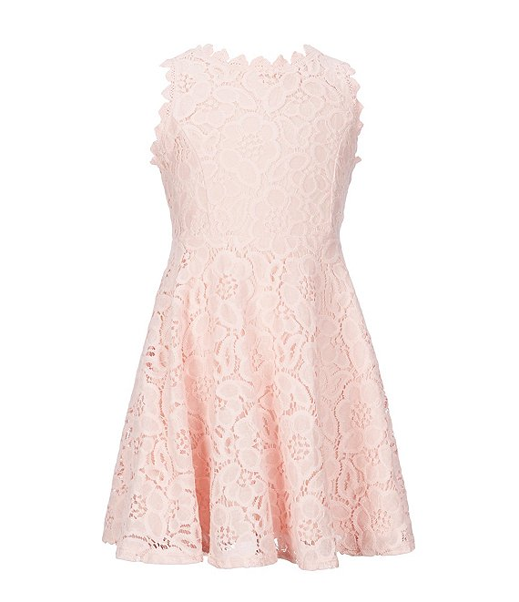 Rare Editions Big Girls 7 16 Two Tone Lace Fit And Flare