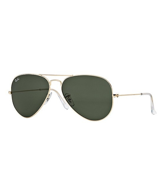 Ray-Ban Double-Bridge Metal Aviator Sunglasses