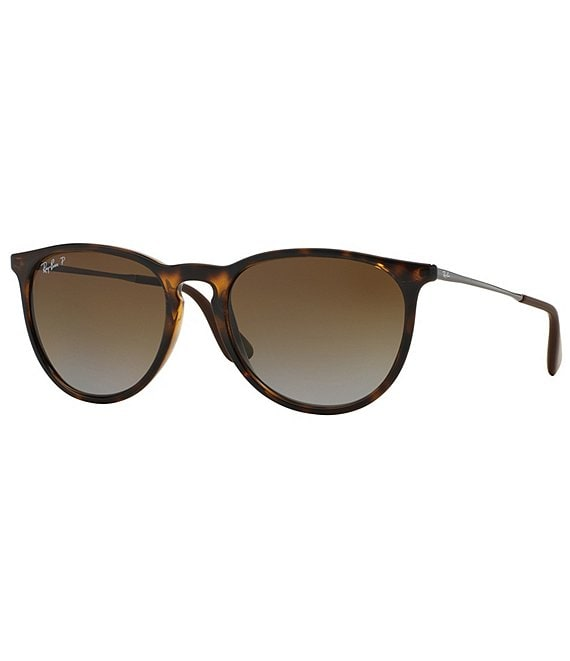Color:Havana - Image 1 - Erika Polarized Gradient Round Sunglasses