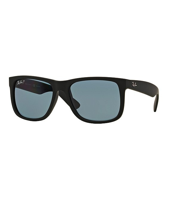 Color:BLACK BLUE - Image 1 - Justin Polarized Square Sunglasses