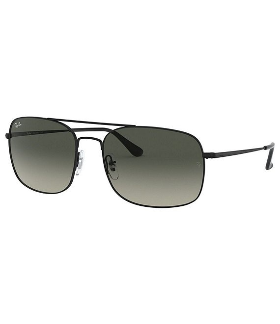 Color:Black Grey - Image 1 - Minimalist Square Sunglasses