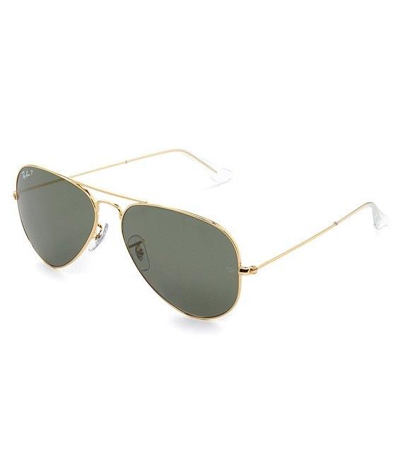 669d3b80a034 Ray-Ban Polarized Metal UV Protection Aviator Sunglasses