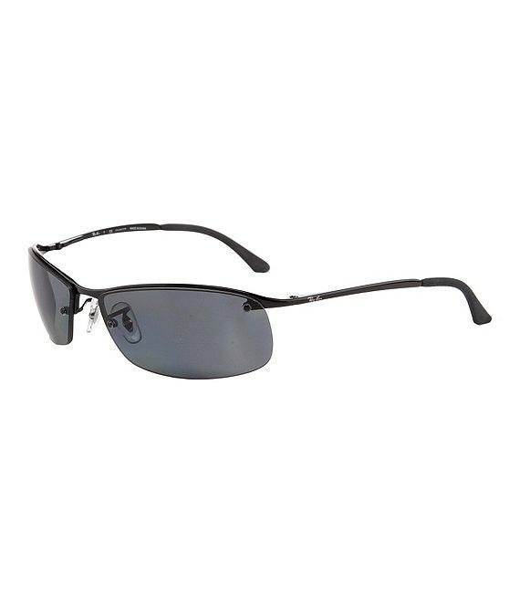 54ab63d417e6ef Ray-Ban Polarized UVA/UVB Protection Rectangular Sunglasses | Dillard's