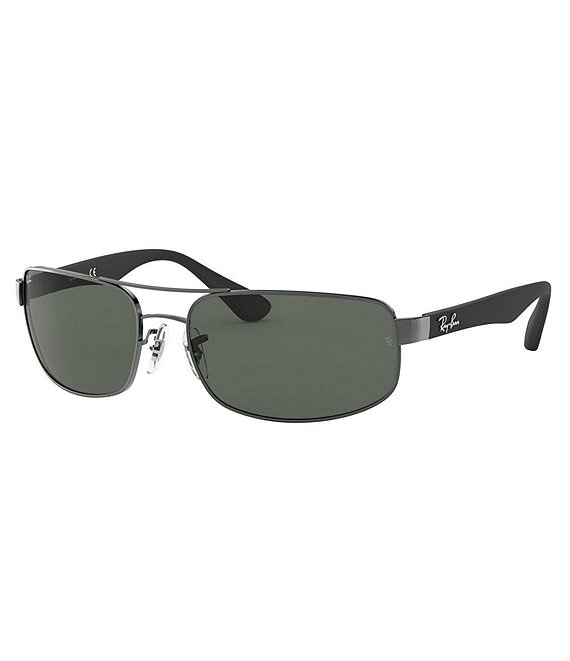 Color:Grey - Image 1 - RB3445 Rectangular 61mm Sunglasses