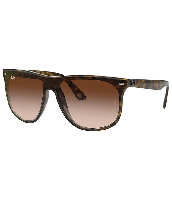 Color:Havana - Image 1 - Square Acetate Gradient Lens Sunglasses