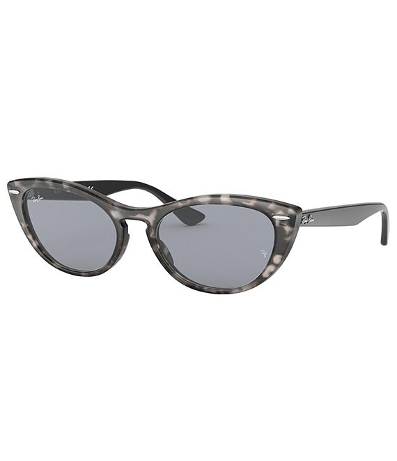 Color:Grey Havana - Image 1 - Women's Nina Slim Cat Eye Sunglasses