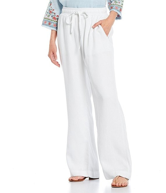 Reba Pull On Slant Pocket Chambray Pants
