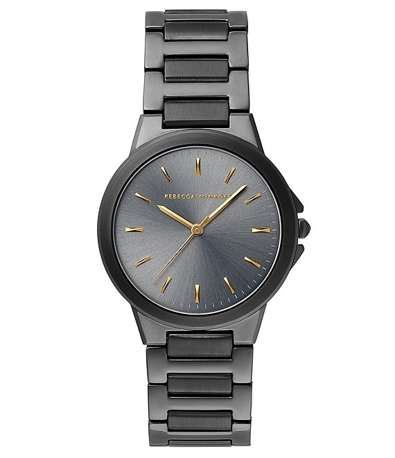 Color:Grey - Image 1 - Cali Grey Ion Plated Tone Bracelet Watch