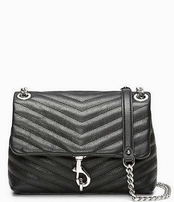 Color:Black - Image 1 - Edie Quilted Crossbody Bag