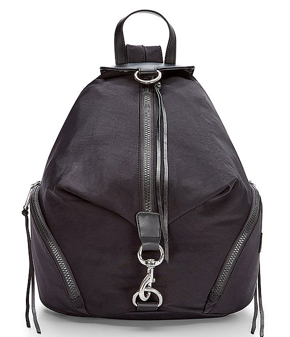 Color:Black - Image 1 - Julian Nylon Backpack