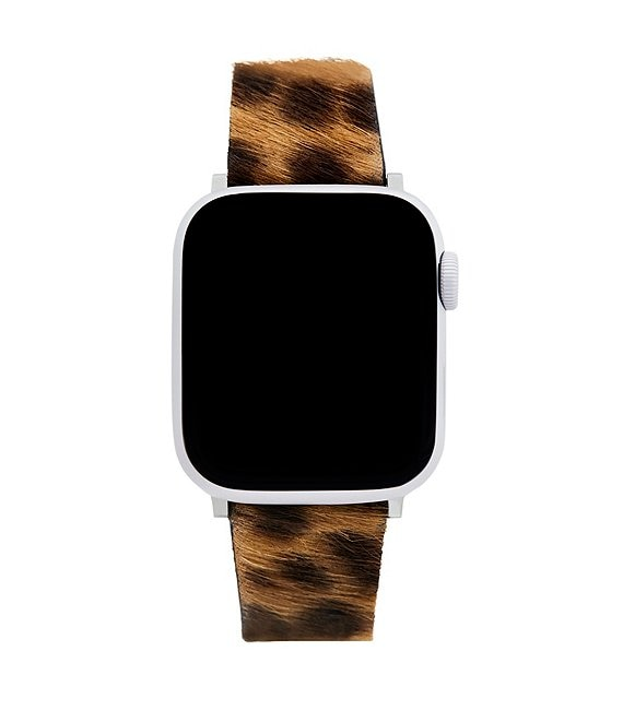 Color:Leopard - Image 1 - Leopard Haircalf Apple Watch® Strap