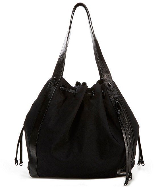 Color:Black - Image 1 - M.A.B. Nylon Tote Bag