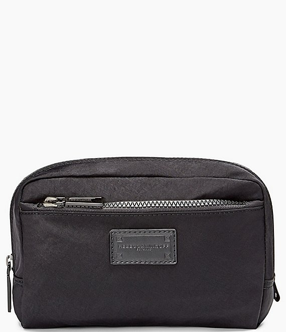Color:Black - Image 1 - Nylon Cosmetic Pouch