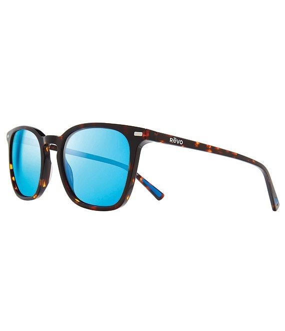 Color:Tortoise with Revo Blue Lens - Image 1 - Watson Square Polarized 56mm Sunglasses